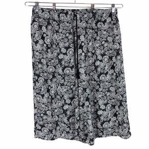 Xhiliration 2X Cropped Pants Black White 1286